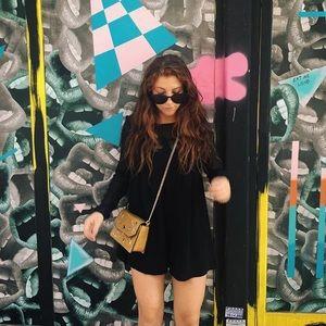 Zara black long sleeve romper